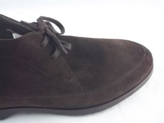 Salvatore Ferragamo Brown Suede Chukkas Size 12 Trace 0486286 New with