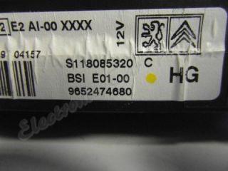 2003 Citroen Xsara Picasso BSI Fuse Box 9652474680 S118085320 MOD1571E