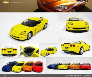 Chevrolet Corvette Z06 1 36 Color Selection Diecast Mini Cars Toys