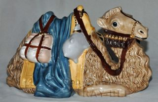 Vintage Nativity Set, Hand Crafted, Very Large, Gold, 16 Pieces