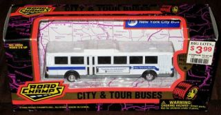 ROAD CHAMPS CITY & TOUR BUSES 1/87 HO 1996 NEW YORK CITY BUS MTA