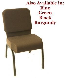 Brown Church Chairs Prime Collection Stackable NEW w Pocket SAVE IN