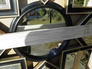 Christopher Guy Ebony Silver Leaf Star Mirror Brand New