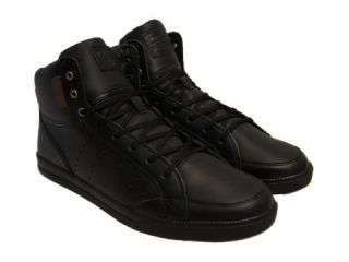 Clae Mens Wilder CLAO1257 Black Leather Lace Up Fashion Sneakers Shoes
