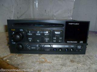 95 02 Chevrolet Tahoe Yukon Safari Suburban Silverado Sierra Radio Cd