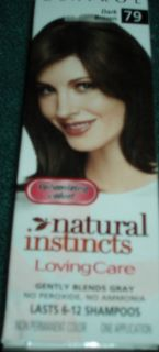 Clairol Natural Instincts Loving Care Dark Brown #79 Non Permanent