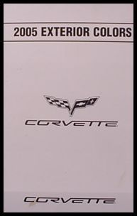 2005 Chevrolet Chevy Corvette Color Paint Chip Brochure