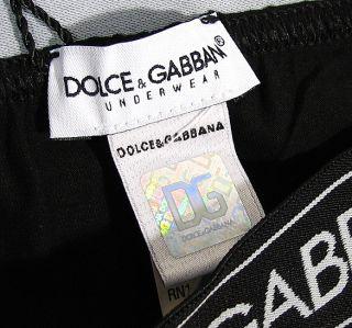 Dolce Gabbana Pure Mens Logo Brando Brief Stretch Cotton D G Black