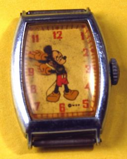 Mickey Mouse Watch Antique Circa 1940 50 U s Time No Band