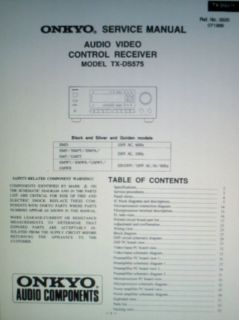 AV Control Receiver Service Manual Book Bound Circuit Diagrams