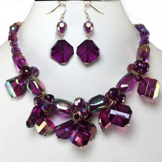 earrings necklace set costume jewelry description chunky necklace set