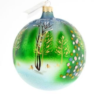 Radko RARE Frosty Mist Christmas Ornament Forest Tree Xmas Bulb