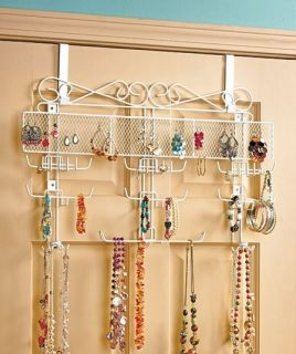 NEW Over Door or Wall Mount Jewelry Holder Display Rack Valet