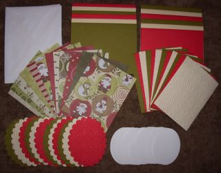 CHRISTMAS CARD MAKING KIT~CHRISTMAS WISHES~UNIQUE DIE CUT & EMBOSSED