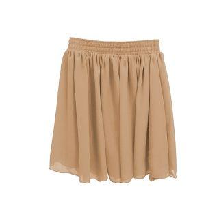 High Waist Pleated Double Layer Chiffon Short Mini Pompon Dress