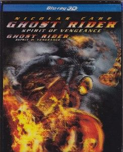 Blu Ray Ghost Rider Spirit of Vengence 3D 3D Slip Cover New