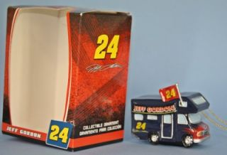 Trevco Jeff Gordon Motor Home NASCAR Christmas Ornament