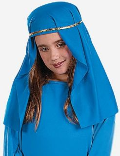 Child Blue Virgin Mary Costume Hat Nativity Christmas Church Play