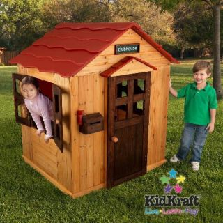 New KidKraft Childrens Wooden Outdoor Kids Play House