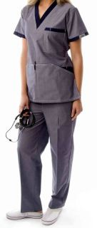 Denim Color Scrub Set Uniform for Women New with Tag