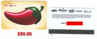 50 00 Chilis Grill Gift Card Macaroni Grill on The Border MaggianoS