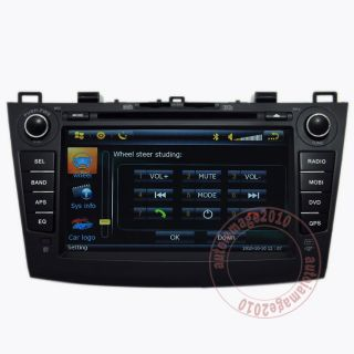 Car GPS Navigation HD Touch Screen DVB T TV DVD Player Radio for 10