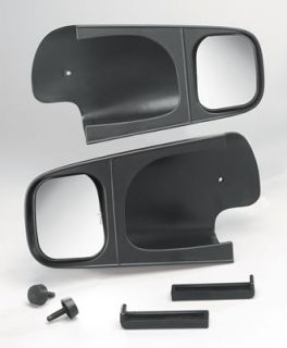 Cipa Mirrors Custom Towing ABS Plastic Black Manual Chevy Full Size