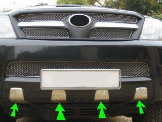 Chrome Front Bumper Teeth for Toyota Hilux MK6 Vigo Invincible