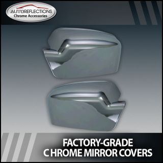 2006 2012 Ford Fusion Chrome Side Mirror Covers (Full)