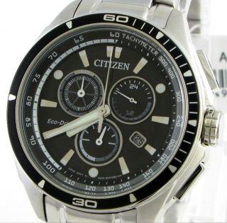 Citizen Men ECO DRIVE Chrono H500 Watch NEW +Warranty AT0956 50E