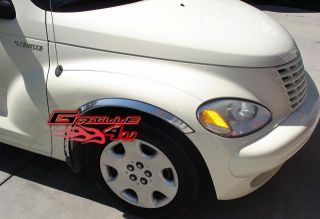 00 10 chrysler pt cruiser chrome fender trim ft cr ptcr00