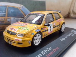 NMIB Citroen Saxo Kit Car Sebastien Loeb Diecast Model Rally Car 1 43
