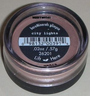 Bare Escentuals CITY LIGHTS Glimpse Eye Shadow   Full Size .57g   New