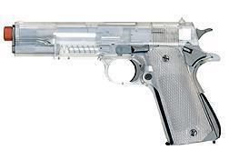 1911 Heavyweight Pistol BB Airsoft Guns Clear Body