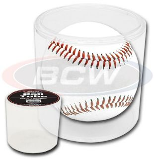 Lot 12 BCW Stackable Baseball Tube Clear Plastic Ball Holder Display