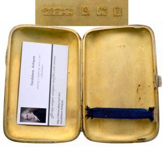Antique Sterling Silver Large Cigar Card Case Birmingham Edwardian