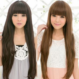 Clair Beauty Women Extra Long straight full Hair Wigs free cap S0024