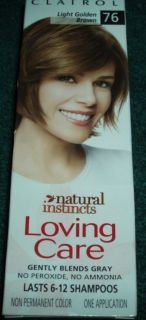 Clairol Natural Instincts Loving Care Light Golden Brown #76 Non