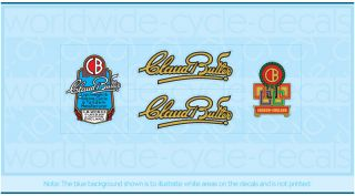 Claud Butler Bicycle Decals Transfers Stickers Set 1