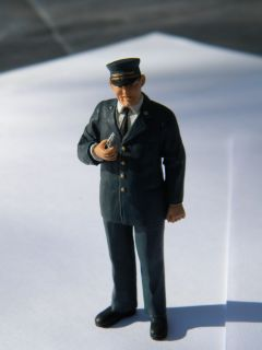 Scale Figure by Preiser, Train Conductor Claude 1/24   1/22.5