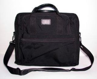 Tumi Laptop Briefcase Messenger Bag Black Ballistic Nylon