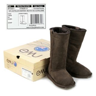 EMU STINGER HI WOMENS Sz 7 Winter Boots Hiking Shoes W10001 CHO