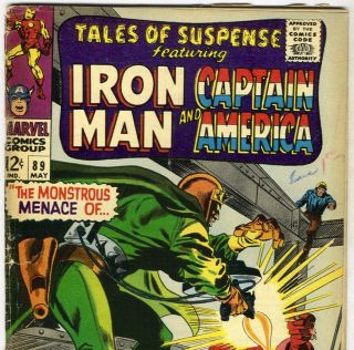 TALES of SUSPENSE #89 Iron Man & Captain America from May 1967 in G/VG