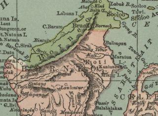 Map Authentic 1883 States Ports Cities Topog Tasmania Inset