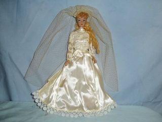 VINTAGE MIDGE BRIDE DOLL1962 BARBIE 1958 # 11 MARKED, DRESSED IN GOWN