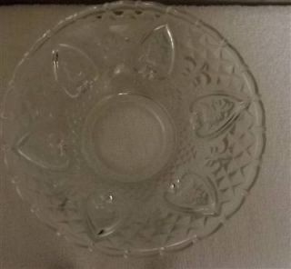 KIG Clear Glass Bowl Roses Floral Fl de Lis Scrolls Made Indonesia