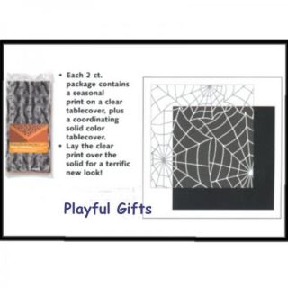 spider web table cover halloween