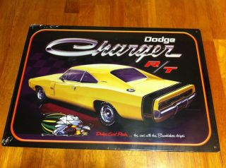 VINTAGE AUTO TRUCK DODGE CHARGER R T 426 TIN SIGN MOPAR SCAT PACK