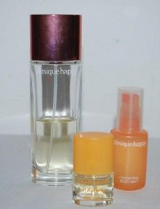 Clinique Happy Lot of 3 Perfume Spray 1.7 .14 & Hydrating Body Mist 1