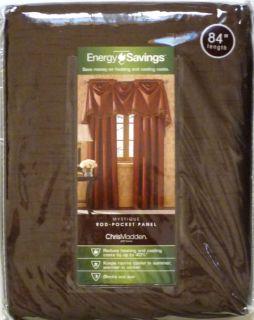 Chris Madden Mystique Rod Pocket Panel Energy Savings 54x 84 Brown